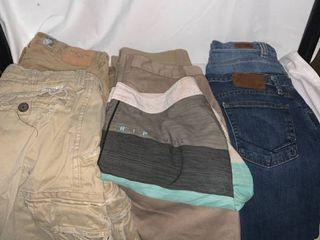 lot of Boys Jeans Pants and Shorts   Abercrombie Vans Volcom location C1