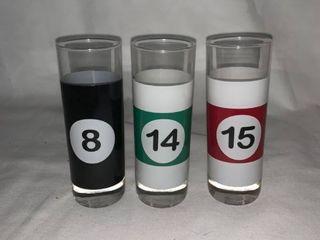 Three Billiards Shot Glasses location C2