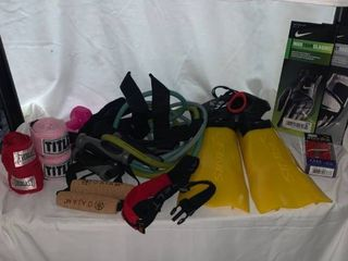 Sports and Fitness lot   Nike Golf Gloves Tension Bands Boxing Wraps location C4