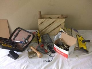lot Of Assorted Tools In Cool Crate