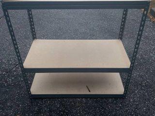 Metal and Wood Storage Shelf