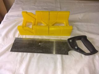 Stanley Hand Saw With Miter Box