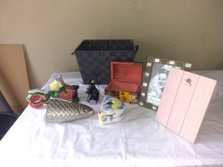 lot Of Various Home Decor Items Silver Fish  Motorcycle