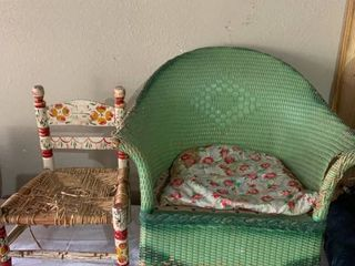Pair of Vintage Childrens Chairs Need TlC location E1