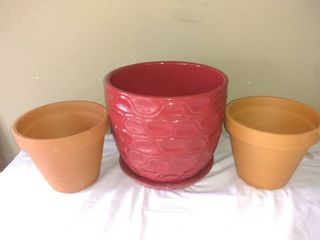 lot Of 3 Planters In Excellent Condition