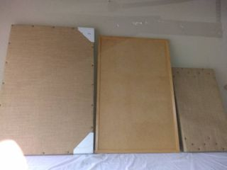 lot Of 3 Message Boards 2 Burlap And 1 Cork