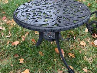Cast Aluminum End Table