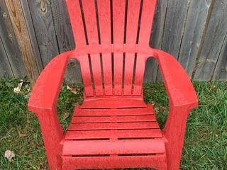 Red Plastic Adirondack Chair
