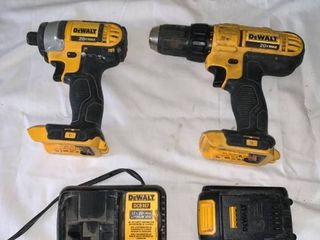 DeWalt 20V Cordless Drill and Impact Driver With Battery and Charger Working location A1