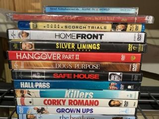 lot of DVDs location B4