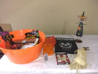 lot Of Various Halloween Items To Get Your Spook On