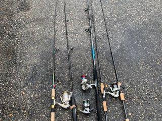 lot of Fishing Rods and Reels Pflueger Shimano location SE Corner