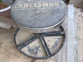 Craftsman Mechanics Rolling Adjustable Shop Stool With Tool Trays