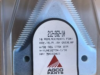 Set of hay cutter blades new as picture 212 262 10