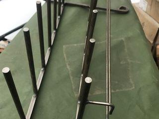 Heavy duty steel industrial looking wine rack and glass rack