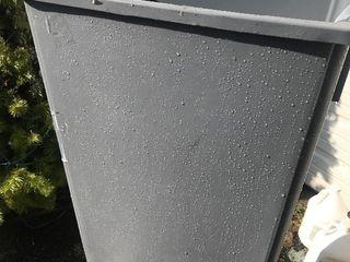New gray slimline commercial trashcan large
