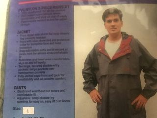Two piece rain suit gray to keep on the motorcycle in case of rain or for every day use