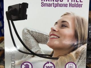 Hands free phone mount great for watching your favorite shows on your phone on the airplane home use your imagination