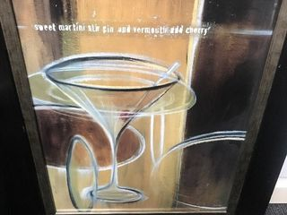 Two large bar theme art work great for man cave bar area 2 x 2