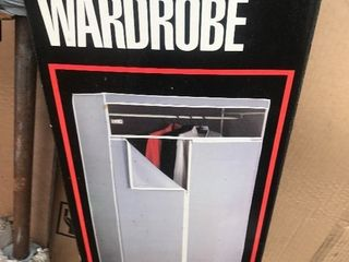 New in box storage wardrobe assembly required in box for easy storage and transport