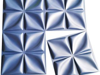 Art3d Navy Blue 3D Wall Panel PVC Flower Design Cover 32 Sqft  for Interior Wall DAccor in living Room Bedroom lobby Office Shopping Mall