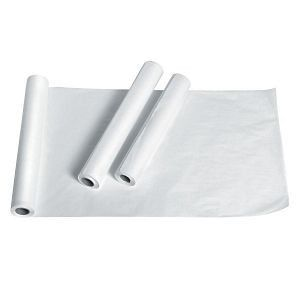 Strong  absorbent table paper helps protect exam tables from dirt and moisture   Standard Crepe Exam Table Paper  18  x 125  12 CS