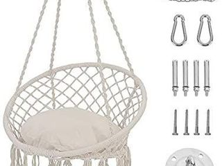 Patio Watcher Hammock Chair Macrame Swing