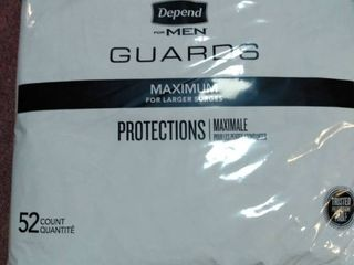 Depend Guards for Men  maximum for larger surges  1 pack  52 each