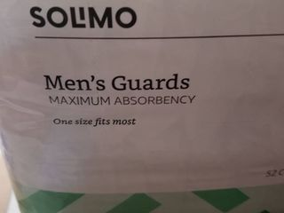 Solimo Men s Guards One Size Fits Most In Packaging 52 Count Free Shipping