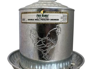 GAlVANIZED DOUBlE WAll DRINKER METAl 2 GAl
