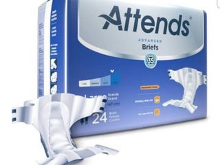 Attends Advanced Adult Incontinence Brief Heavy Absorbency 24 Pack large