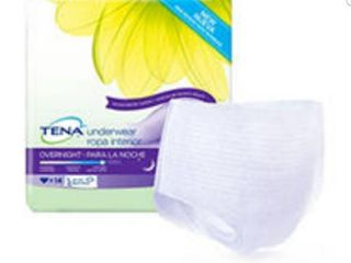 TENA Overnight Disposable Underwear Female Pull On lARGE 54352 14   Bag