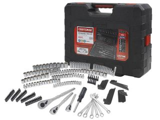 Craftsman 230 Pc Silver Finish Standard And Metric Mechanic s Tool Set 50230