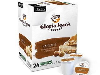 Gloria Jean s Hazelnut  Flavored K Cup Coffee Pods  light Roast  24 Count  For Keurig Brewers