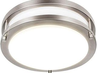 13 inch Flush Mount lED Ceiling light Fixture  3000K 4000K 5000K Adjustable Ceiling lights  Brushed Nickel Saturn Dimmable lighting for Hallway Bathroom Kitchen or Stairwell  ETl listed