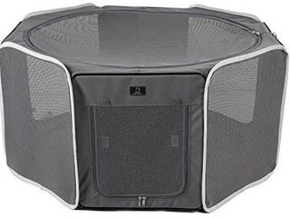 A4Pet Portable Foldable Pet Playpen Exercise Pen Kennel Outdoor and Indoor Use with Removable Mesh Shade Cover