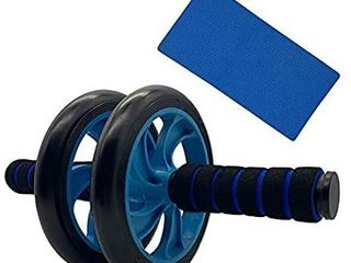 Ab Dual Roller Wheel Includes Non  Slip Handles and Extra Thick Knee Mat