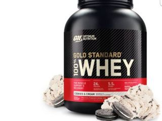 Optimum Nutrition 100  Whey Gold Standard  Cookies and Cream  5 lB
