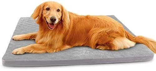 large Dog Beds 23 31 39 47 Inch Soft Pet Foam Bed Mat for large Medium Small Dogs Washable Anti Slip Sleeping Mattress Cuddler Pad with Thicker Removable Cover