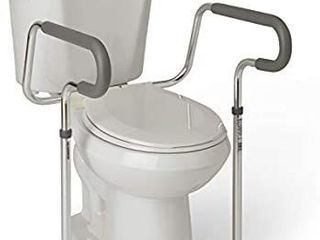 Guardian Toilet Safety Rail with Adjustable Height for Bathroom Safety  Toilet Assist  and Grab Bar