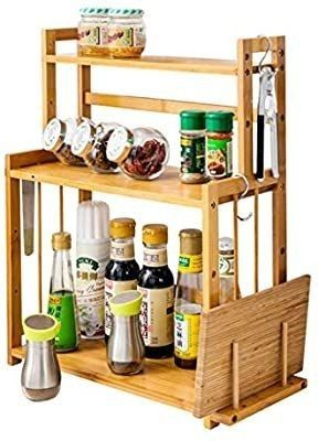 Kitchen Storage  Kimanli 3 Tier Wood Spice Rack