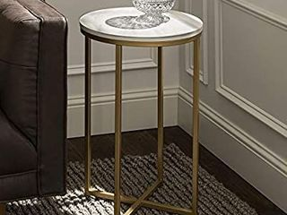 alker Edison Furniture Company Modern Round Side End Accent Table