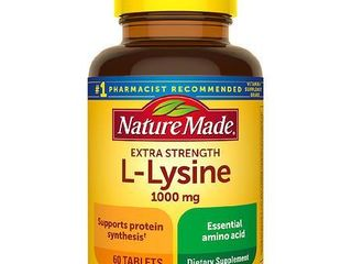 Nature Made Extra Strength l   lysine 1000 mg Tablets   60ct