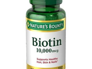 Nature s Bounty Biotin Softgels  10 000 mcg  120 Ct