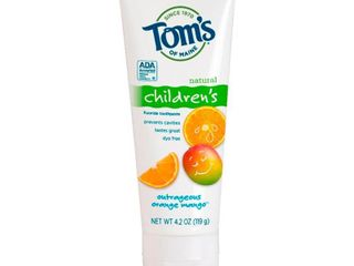 Tom s of Maine Outrageous Orange Mango Natural Kids Toothpaste   4 2oz   Pack of 3