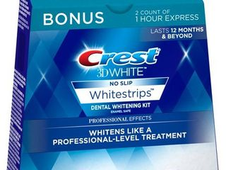 Crest 3D White luxe Whitestrips Professional Effects 20 Treatments   Crest 3D White Whitestrips 1 Hour Express 2 Treatments