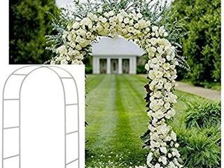 Adorox 7 5Ft 1 Set White Metal Arch Wedding Garden Climbing Plants Bridal Party Decoration Arbor