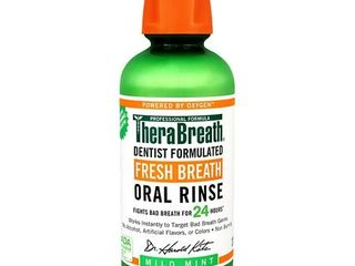 TheraBreath 24 Hour Fresh Breath Oral Rinse  Mild Mint  16 0 fl oz