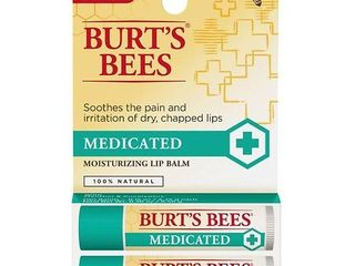 Burt s Bees lip Balm   Medicated with Menthol   Eucalyptus   0 15oz 2pk