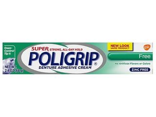 Poligrip Super Free Denture Adhesive Cream   2 4oz